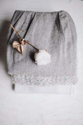 Bomulds plante med tekstil